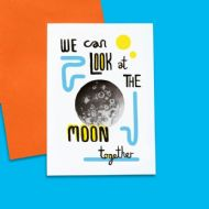 Debmon Design 'Look At The Moon Together' Card
